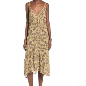 For Love And Lemons Pia Floral Midi Dress Size S